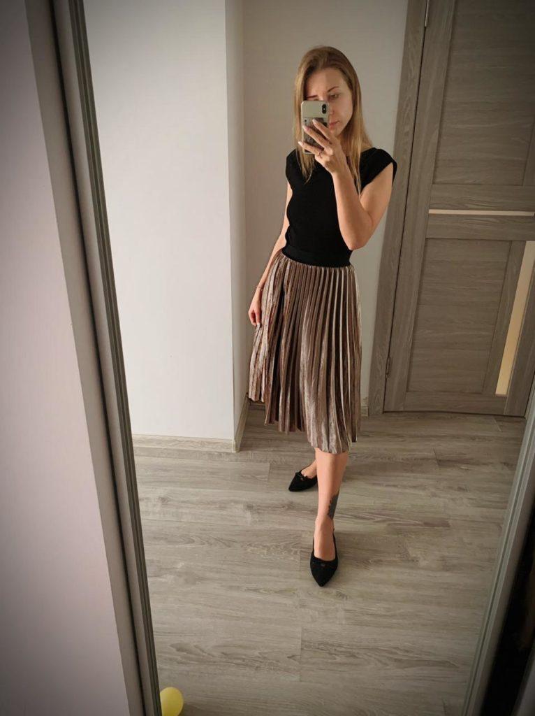 Плиссированная женская юбка Алиэкспресс