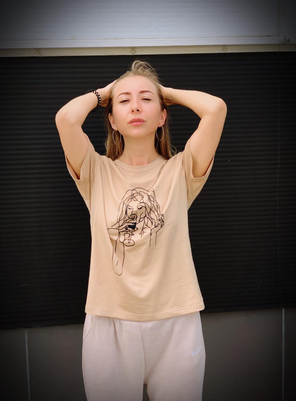 Женская футболка с Алиэкспресс